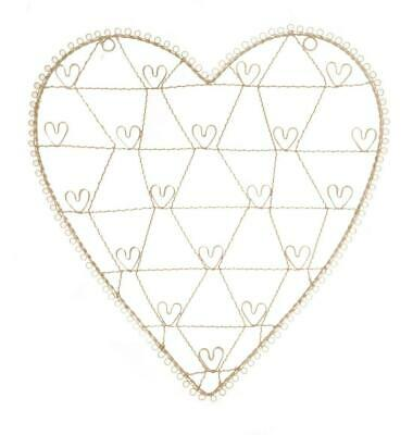 £13.94 • Buy Large Cream Wire Heart Photo Picture Holder Notice Board Wedding Etc