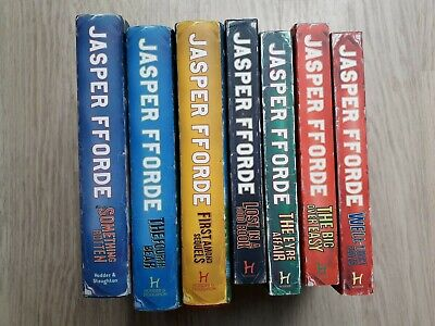 7x Thursday Next Novels By Jasper Fforde (4x Paperback, 3x Hardback) • 20£
