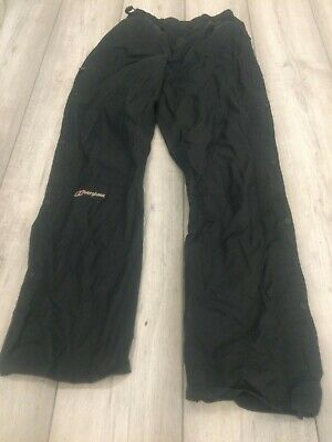Berghaus Walking Shower Proof Over Trousers Bottoms Size Ladies 10 Black • 8.50£
