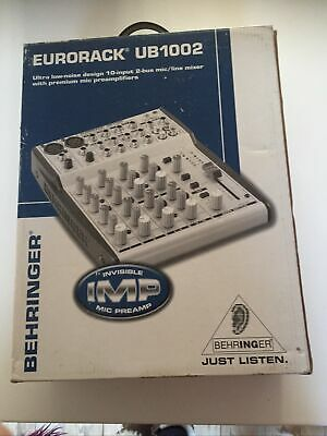 EURORACK USB1002 BEHRINGER Mixing Desk. Boxed, Instructions, Lead. *xmas Gift* • 78£