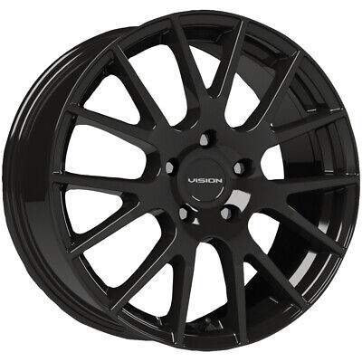 $395.96 • Buy 4-Vision 18 Hellion 15x6.5 4x100 +38mm Gloss Black Wheels Rims 15  Inch