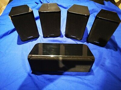 Yamaha Surround Sound Speakers X5 In Gloss Black, Good Condition  • 19.99£