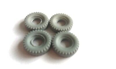 £2.50 • Buy Dinky 20mm Replacement Tyres X4 Block Tread Grey Supertoys Racing Cars DD28