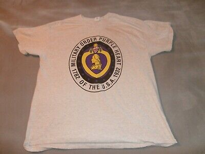 $18.99 • Buy Military Order Purple Heart Of The USA Men's Gray T Shirt Size XL