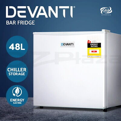 AU152.90 • Buy Devanti Portable Electric Mini Bar Fridge Office Refrigerator Cooler Freezer 48L
