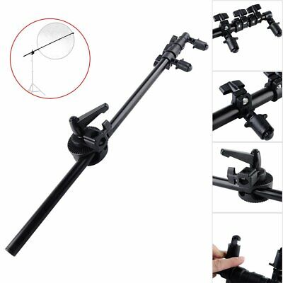Photo Video Studio Flash Light Reflector Plate Disc Boom Arm Clip Holder Clamp • 12.99£