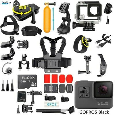 $ CDN237.78 • Buy NEW GoPro HERO 5 Black Edition Touch-Screen Camera + 40 PCS Sports Accessories!