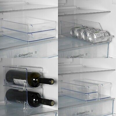 £11.99 • Buy Kitchen Fridge Storage Box Container Tray Sets Fruits Vegetable Cans Food Rack