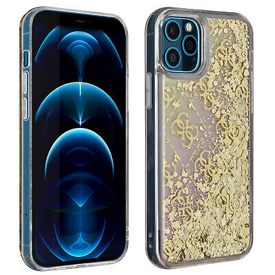 Case IPhone 12 Pro Max Floating Glitter Gradient Liquid Glitter Guess Gold • 36.90£