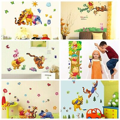 Animal Kids Winnie The Pooh Wall Decals Room Nursery Stickers Decor Mural Home • 2.99£