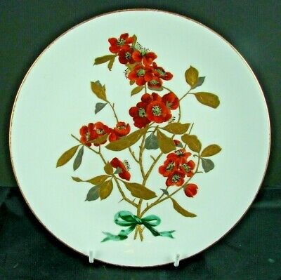 19thC MINTON AESTHETIC ERA PLATE, HAND DECORATED JAPONICA & RAISED GOLD LEAVES  • 99.99£