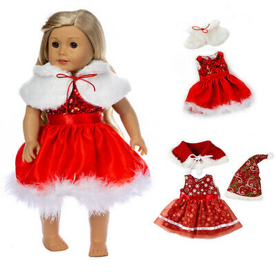 Xmas Doll Dress Outfit Clothes Set For 18'' American Girl Our Generation Doll • 4.06£