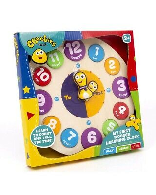 £3.99 • Buy CBeebies My First Learning Clock Wooden Educational Toy Kids Children