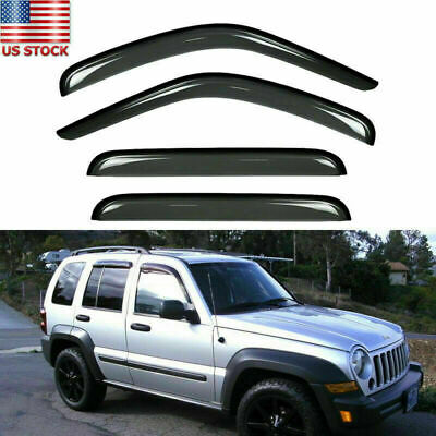 $29.99 • Buy For 2002-07 Jeep Liberty Smoke Tint Window Visor Wind Deflector Vent Rain Guard