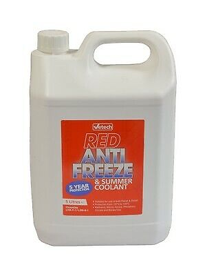 Concentrate 5L Antifreeze & Coolant Red Fits BMW 5 Series F11 2010-2016 • 26.65£