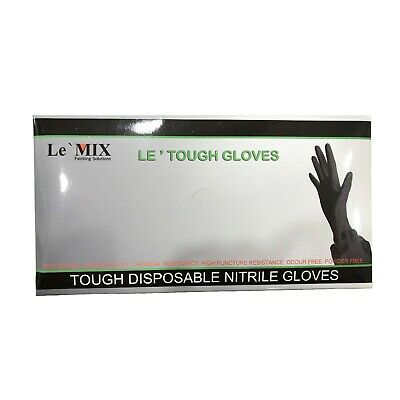AU19.95 • Buy 100 Tough Disposable Nitrile Gloves Chemical Resistance Touch Screen Friendly