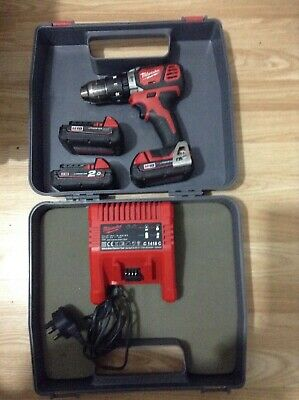 Milwaukee 18v Combi Drill Set With 3 Batteries And Charger • 118£