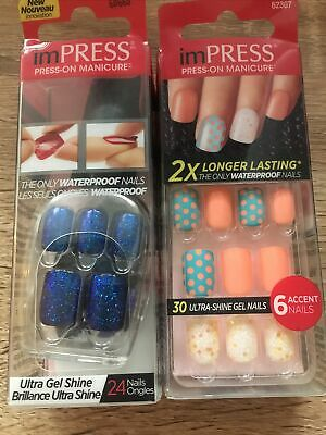 Kids Or Young Adult/ Ladies Stick On Nails No Glue Required X 2 Boxes • 0.99£