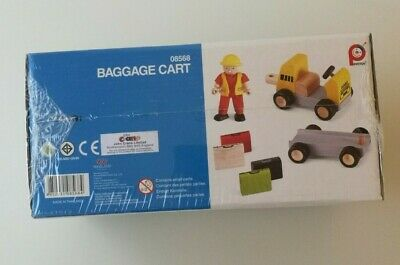 Pintoy Wooden Baggage Cart Set: 08568 - NEW! • 10£