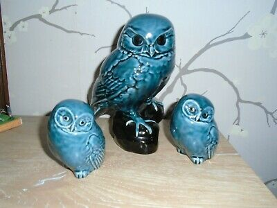 Poole Pottery  Owl  With  2  Owlets • 35£