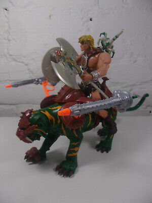 $74.99 • Buy 200X Battle Cat & He-Man Figure Masters Of The Universe MOTU 2001 Complete