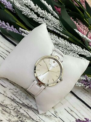 $ CDN65.44 • Buy Kate Spade New York Metro Pearl Dial White Leather Ladies Watch #122 S.38 A $195