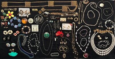 $ CDN10.50 • Buy Vintage Jewelry Lot All Wearable Some Signed +2.5Lbs Napier Sarah Coventry Avon