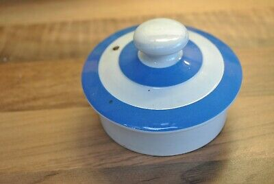TG Green Blue & White Cornishware - Ceramic Lid For Teapot Or Coffee Pot • 7£
