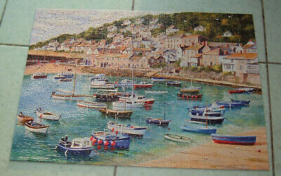 GIBSONS MOUSEHOLE By TERRY HARRISON FISHING VILLAGE 1000 JIGSAW PUZZLE COMPLETE  • 14.95£
