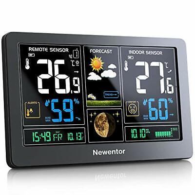 Newentor Weather Station With Outdoor Sensor Wireless, Digital Home Weather • 54.99£