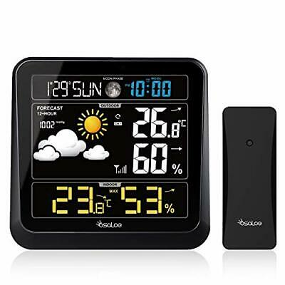 Osaloe Weather Station, Digital Weather Station With Wireless Outdoor Sensor • 46.99£