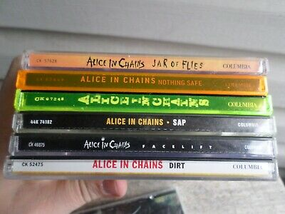 $ CDN13.05 • Buy Alice In Chain CD Compact Disc Lot Six Lot SAP Dirt Facelift Jar Nothing Safe
