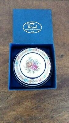 Regal Bone China Collection Floral Pattern Lidded Trinket Dish In Box. • 0.99£