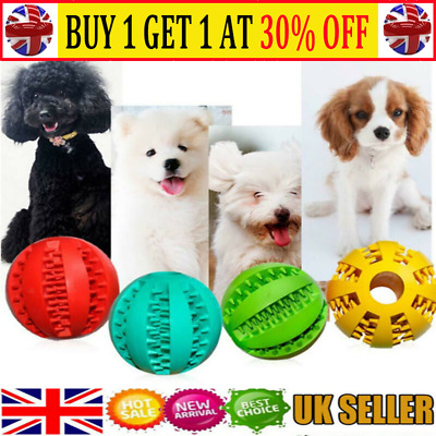 Pet Puzzle Toy Food Dispenser Tough-Treat Ball Dog Interactive Puppy Play Toy MN • 4.99£
