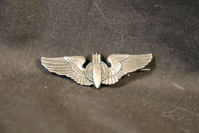 $69.99 • Buy Vintage WWII US Military Army Bomber Aircrew Sterling Silver Pilot Wings 2  Pin