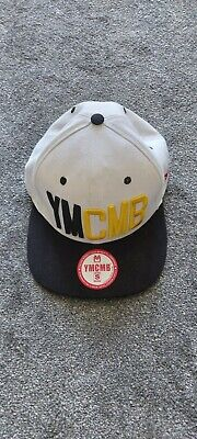 YMCMB BASEBALL CAP, With Sticker, Official, White, Blue, Yellow, Flat Peek • 19.99£