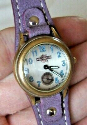 Harley-Davidson Women's Vintage Fossil Watch New Battery New Band 2nd Hand Dial • 37.46£