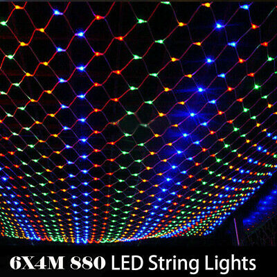 6*4M LED String Fairy Net Lights Curtain Mesh Waterproof Christmas Tree Party UK • 16.27£