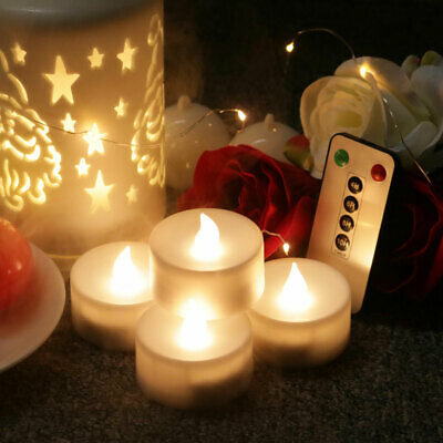 6Keys LED Candle Light Electronic Remote Control Rechargeable Flamel Tea Lights • 14.04£