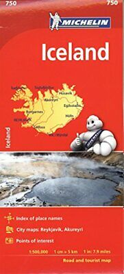 Michelin Iceland Map 750 (Michelin Map) • 14.88£