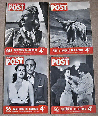 Four Vintage Picture Post Magazines – 1950 • 3.99£