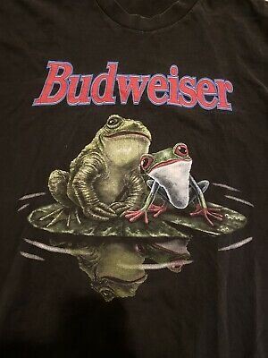 $ CDN59.99 • Buy Vintage Budweiser Frog Shirt Size XL Single Stitch USA Made Double Sided