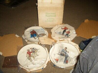 $ CDN77.85 • Buy Norman Rockwell LOT Of 4 PLATES  FOUR SEASONS MINT - Gorham - 11 All Org Boxes