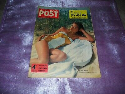 PICTURE POST MAGAZINE 1st SEPT 1956 Cover JANET LEIGH Hollywoods Happiest H-wife • 3.99£