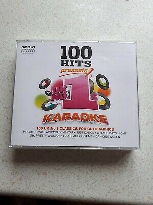 100 Hits Presents: Uk No.1s Karaoke (2014) CD+G 5 Disc Box-Set Great For Parties • 9.99£