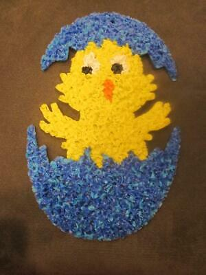 EASTER MELTED PLASTIC POPCORN CHICK EGG Decoration Door Greeter NEW LAST ONE • 24.81£