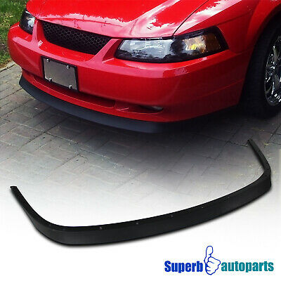 $68.98 • Buy For 1999-2004 Ford Mustang V8 GT Front Bumper Lip ABS Spoiler Balck Replacement