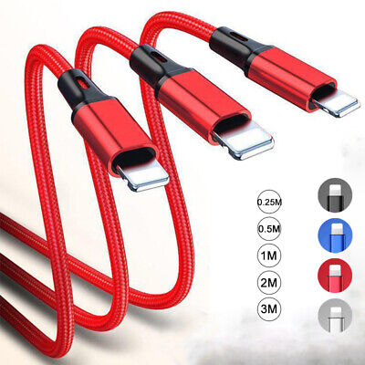 3M Long Strong Braided Fast Charge USB Lead Charger Cable For Apple IPhone IPod • 1.69£
