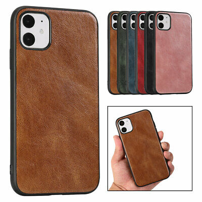 AU8.76 • Buy For IPhone 12 11 Pro Max XS X 8 7 Plus SE2 Leather Back Slim Rubber Case Cover