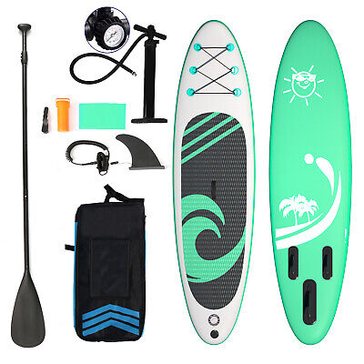 AU344.99 • Buy 10'6  Inflatable SUP Stand Up Paddle Board Surfboard Kayak Surf Paddleboard Long